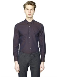 Lardini Cotton Polka Dot Jacquard Shirt