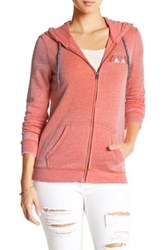 Roxy Tropical Bazaar Zip Hooded Sweatshirt Pink