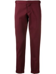 Thom Browne Rwb Stripe Skinny Trouser Red