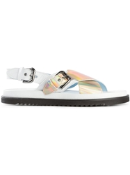 Studio Pollini Crisscross Strap Sandals White