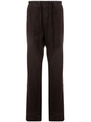 James Perse Jersey Track Pants Black