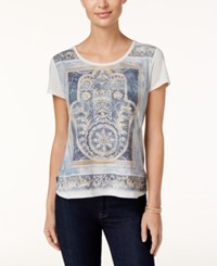 Styleandco. Style Co. Petite Vintage Hand Graphic T Shirt Only At Macy's Bright White