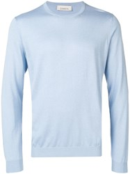 Laneus Relaxed Fit Jumper Blue