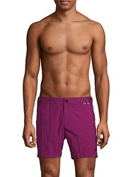 Danward Zippered Swim Trunks Grape
