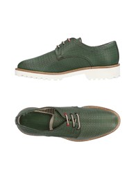 Dama Lace Up Shoes Green