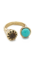 Rebecca Minkoff Dual Stone Ring Gold Turquoise