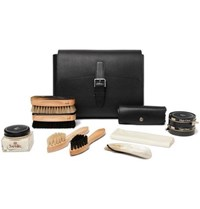 Dunhill Boston Shoe Care Kit With Leather Case Black