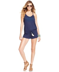 Lucky Brand Lace Racerback Romper Cover Up Women's Swimsuit