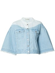 Ulla Johnson Flared Sleeve Denim Jacket Blue