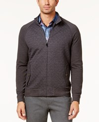 Tasso Elba Men's Quilted Zip Front Jacket Created For Macy's Dark Slate