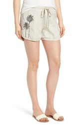 James Perse Women's Embroidered Drawstring Shorts