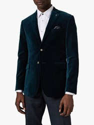 Ted Baker Glover Velvet Tailored Blazer Teal