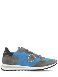 Philippe Model Trpx Suede And Nylon Sneakers Grey