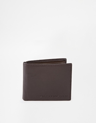 French Connection Leather Coin Wallet Brown