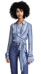 Ramy Brook Hayven Top Blue Combo