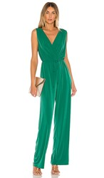 Bcbgeneration Open Back Jumpsuit In Green. Pine Green