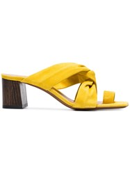 Neous Yellow Inopsis 55 Suede Mules Yellow And Orange