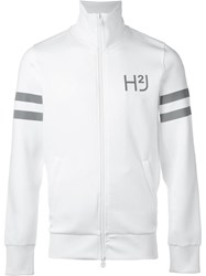 Hydrogen Logo Print Zipped Jacket White