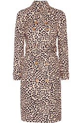 Givenchy Trench Coat In Leopard Print Cotton Leopard Print Blush