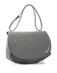 Braccialini Ninfea Leather Shoulder Bag Grey