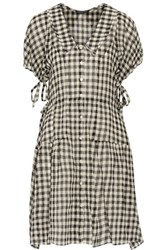 Marissa Webb Clarice Gingham Wool Broadcloth Dress Black