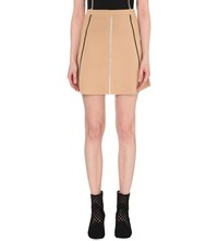 Sandro Jesna Stretch Knit Mini Skirt Vanille