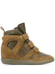 Isabel Marant Buckee Wedge Sneakers Green