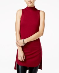Material Girl Juniors' Mock Turtleneck Sleeveless Knit Top Only At Macy's Zinfandel