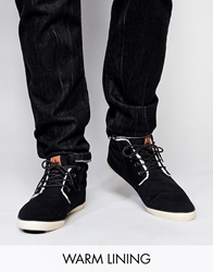 Ones Twos Chukka Boots With Shearling Look Lining Black