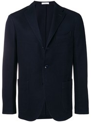 Boglioli Straight Fit Suit Jacket Blue
