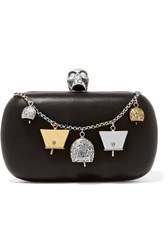 Alexander Mcqueen Embellished Leather Box Clutch Black
