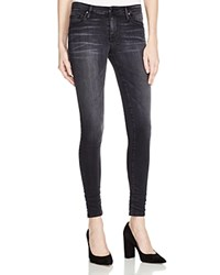 Black Orchid Jude Mid Rise Super Skinny Jeans In Obsidian