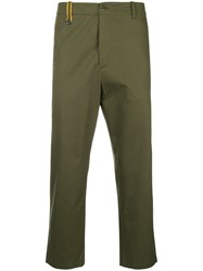 Oamc Cropped Tailored Trousers Green