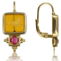 Tagliamonte Classics Collection Ruby And 18K Gold Earrings Amber