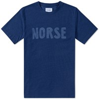 Norse Projects Niels Logo Tee Blue