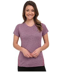 New Balance Heathered Short Sleeve Tee Imperial Purple Heather Women's Short Sleeve Pullover