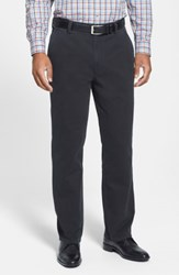 Cutter And Buck Big Tall Curtis Flat Front Five Pocket Cotton Twill Pants Black