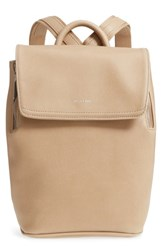 Matt And Nat Mini Fabi Faux Leather Backpack Beige Cardamon