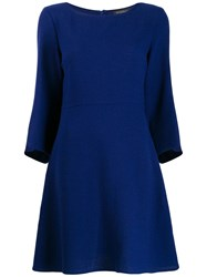 Antonelli Mid Length Shift Dress Blue