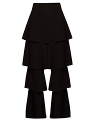 Osman Perfect 5 Ruffled Leg Trousers Black