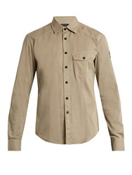 Belstaff Steadway Point Collar Cotton Shirt Grey