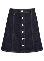 Alexa Chung For Ag Kety Navy Denim Mini Skirt