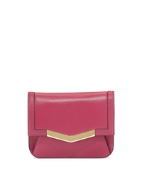 Time's Arrow Calfskin Chevron Detail Belt Bag Dahlia