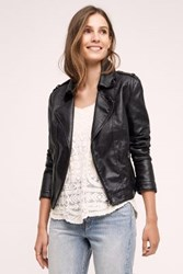 Anthropologie Vegan Leather Moto Jacket Black
