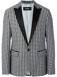 Dsquared2 Houndstooth Patterned Blazer Black