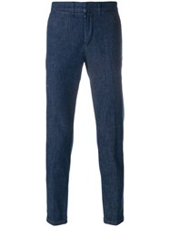 Fay Straight Leg Trousers Blue