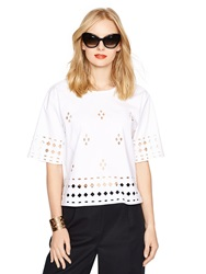 Kate Spade Madison Ave. Collection Jenisa Top Fresh White