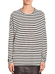 Set Striped Long Sleeve Tee White Blue