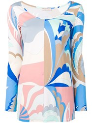 Emilio Pucci Abstract Print Blouse White
