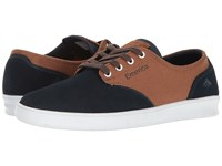 Emerica The Romero Laced Navy Brown White Men's Skate Shoes Multi